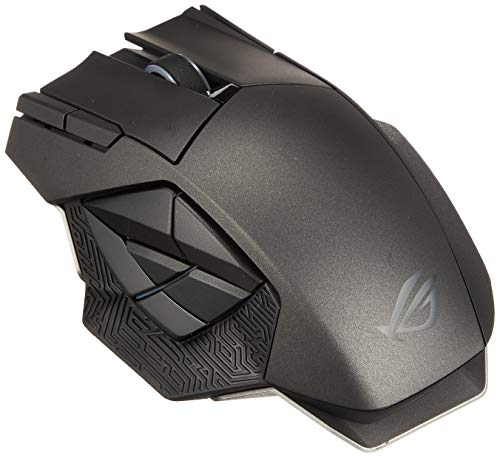 ASUS RGB Laser Gaming Mouse - ROG Spatha | Wireless/Wired Gaming Mouse for PC | for Right-Handed Gamers | 8200 DPI Laser Sensor | Ultra-Precise Mouse Tracking for MMO Games | 3D Printer Friendly