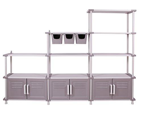 Ondis24 Modulares Regalsystem Freedom Schwerlastregale mit Türen und Aufbewahrungsboxen