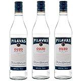 Ouzo Pilavas Nektar 3x 0,7l 40% Vol. | + 1x20ml ElaioGi Olivenöl