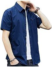 【在庫処分セール】シャツ メンズ 長袖 半袖 カジュアル 無地 オックスフォード シャツ メンズ カジュアル コットン シャツ メンズ
