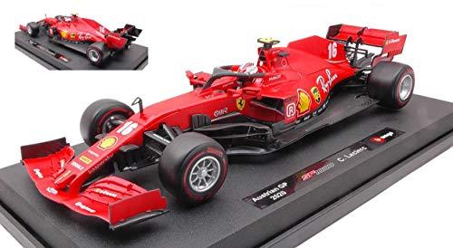 Burago BU16808L Ferrari F1 Charles Leclerc 2020 N.16 1:18 MODELLINO Die Cast