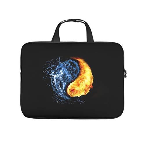 Funda para portátil con diseño de Yin Yang con círculo de agua y fuego, antiestática, para el trabajo, el negocio