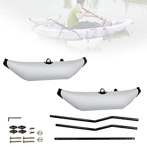 EnweMahi Kayak Inflable Estabilizador, Barco Pesca Estabilizador 30-68cm Ajustable Desmontaje Sencillo, Estabilizador Agua Flotador Super Flotabilidad Buen Sellado