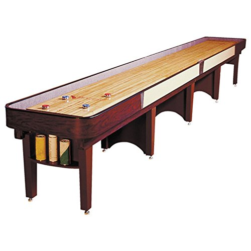 Ambassador Shuffleboard Table – Gaming Board with Playing Accessories – Gameroom Furniture – Wood Game Table - 22' & Williamsburg Cherry
