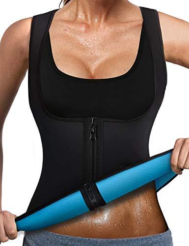 LaLaAreal Faja Reductora Adelgazante Abdominal Mujer Camiseta Sauna Chaleco Neopreno Comprecion para Fitness Postparto Small