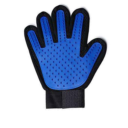 Gant Poil De Chat, Chien – Gant De Massage Pour Animaux –Parfait Pour Les Chiens Et Chats Pour Cheveux Longs Et Courts(Bleu Ciel)