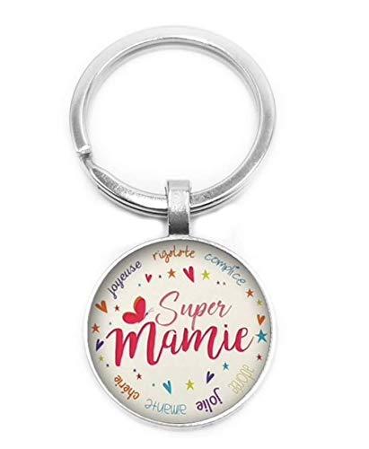 WAY2BB - Porte-clés fête des Grands-mères (Super Mamie)