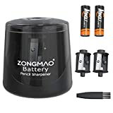 Battery Powered Electric Pencil Sharpener, Fast Sharpen, Suitable for No.2/Colored Pencils(6-8mm), School/Classroom/Office/Home(2 AA batteries,2 replacement blades and 1 brush included)