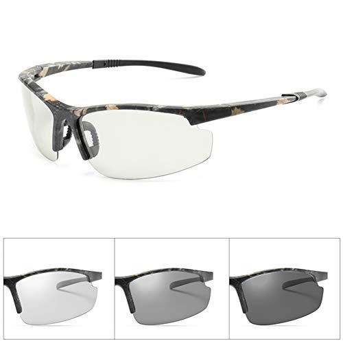 VIWIV Gafas De Sol Fotocromáticas para Gafas De Sol De Conducción Diurna Y Nocturna para Hombres, Gafas De Sol Polarizadas De Media Montura Deportivas De Moda
