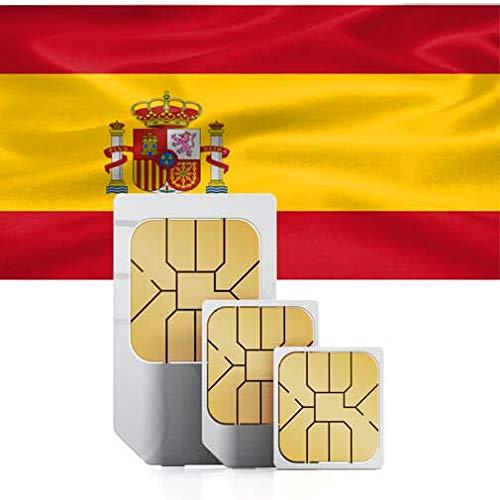 travSIM - Tarjeta SIM Prepago Española (SIM de Datos para España) - 7GB de Datos Móviles para Usar en España Válido por 30 Días - la Tarjeta SIM de Datos Española Funciona en Más de 20 Países