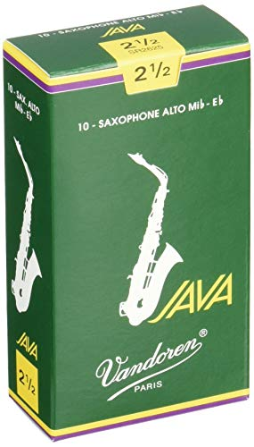 Vandoren SR2625 Java Alto Saxophone Reeds (Strength 2.5) (Pack of 10), WOOD