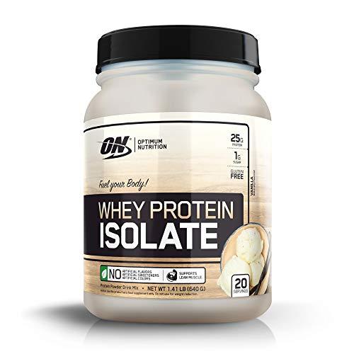 Optimum Nutrition Whey Isolate Protein Powder, Vanilla 1.72 lbs, 20 Servings