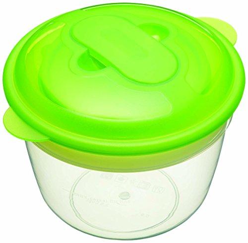 Kitchen Craft Frühstücksdose Stay Cool mit Kühlakku, Kunststoff, Grün/transparent, 30 x 18 x 18 cm, 2-Einheiten