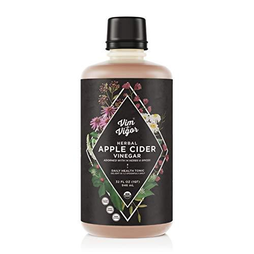 Vim & Vigor, Tonic, Daily Shots, Apple Cider Vinegar, 14 Herbs, Raw, Whole, Organic, USA Made & Sourced, Paleo, Keto, Whole 30… (32)