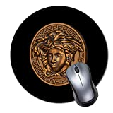 Gaming Round Mouse Pad (Mouse Pad,Round Mouse Mat,Non-Slip Rubber Base for Home & Office & Travel-Versace Diameter 12.2inch,Thickness 0.11inch