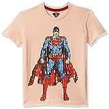 Kidsville Boys' Plain Regular Fit T-Shirt (SP1GBT33 Peach Bud 3-4 Years)