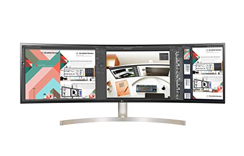 LG - Monitor 49WL95C-WE UltraPanoramico multimedia (Panel IPS: 5120x1440, 32:9, 350nit, 1000:1, sRGB 99%, 60Hz); diag. 124.5 cm (49'); entr.: HDMIx2, DPx1,...