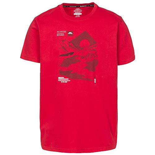 Trespass Landscape T-Shirt à Manches Courtes pour Homme L Rouge
