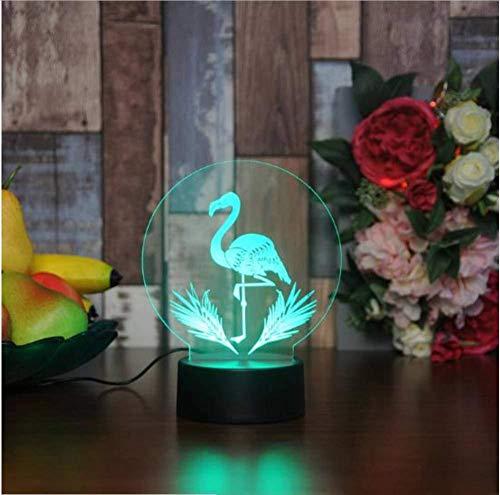 Acryl 7 kleuren veranderende cactus flamingos LED 3D nachtlampje met touch-schakelaar USB 5 V bureau tafellamp voor wooncultuur