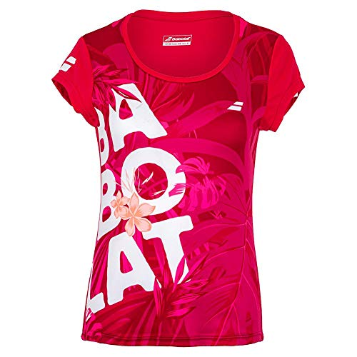 Babolat Exercise Graphic tee W Camiseta, Mujer, Red Rose, M
