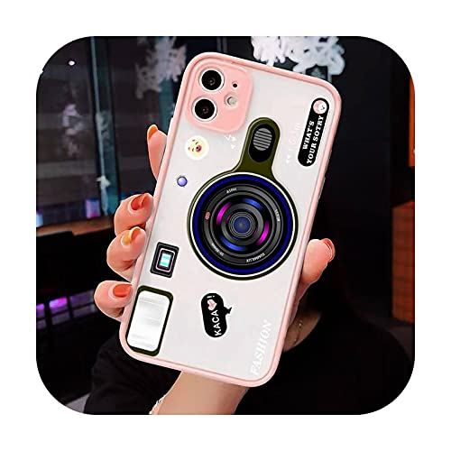 Cámara Moda Arte Patrón De Lujo Teléfono Casos Shell Mate Transparente Para iPhone 7 8 11 12 Plus Mini x xs xr pro max cover-a12-iPhone7plus u 8plus