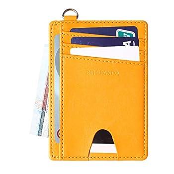 Credit Card Holder Slim Leather RFID Card Wallet Case Minimalist Front Pocket Purse for Men Women