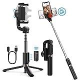 Yoozon Bastone Selfie Stick Bluetooth,3 in 1 Selfie Stick Treppiede con Telecomando Bluetooth,360 Gradi Stick Selfie con Monopiede Estensibile,Adatto per iPhone, Samsung, Huawei,ECC
