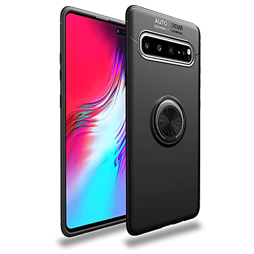 Bolso de un teléfono portátil Estuche protector para Samsung Galaxy S10 5G Caso TPU Soft TPU Funda a prueba de golpes 360 grados Rotating Metal Anillo Magnético Kickstand DISIPACIÓN DE CALOR DE PROTEC