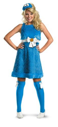 Disguise Krümelmonster-Kostüm für Damen, Sesamstraße - Blau - Small