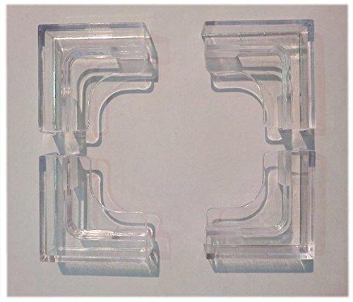 Abdeckscheibenhalter für Aquarien 4mm Glasstärke 4 Stück