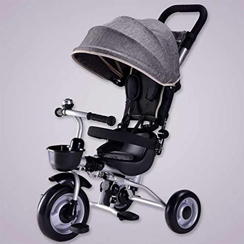 NUBAO Triciclo Passeggino 3 in 1 Triciclo per Bambini con Bambini Regolabili Treke Tenda da Sole Adatti per 12 Mesi -5 Anni Bambini Pesi massimi 25 kg (Color : C)