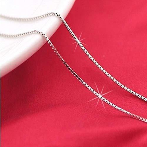 Collar Cadena DeCollar De Plata Esterlina conCadena De Caja Elegante Infinita, Medallón Flotante Sin Cuello para Mujer, Joyería De Hombre, con Seguimiento De 45 Cm