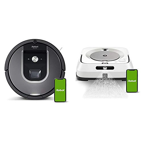 iRobot Roomba 960 Robot Vacuum with Braava Jet M6 (6110) Ultimate Robot Mop