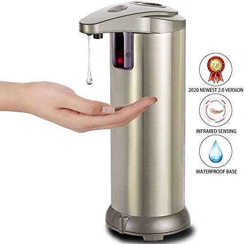OZMI Soap Dispenser, Automatic Touchless High Capacity Soap Dispenser Equipped with Infrared Motion Sensor Waterproof Base Adjustable Switches...