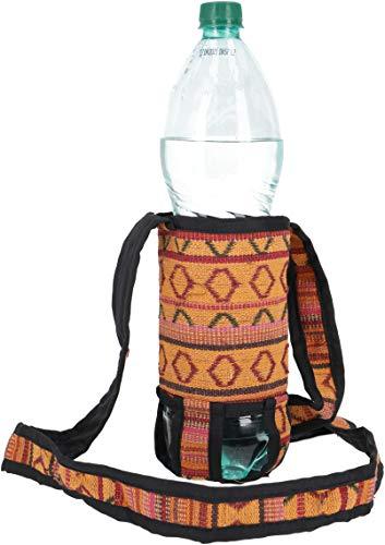 Guru-Shop Wasserflaschen Tasche, Flaschenhalter Ethno - Model 2, Herren/Damen, Orange, Baumwolle, Size:One Size, 5x7 cm, Alternative Umhängetasche, Handtasche aus Stoff