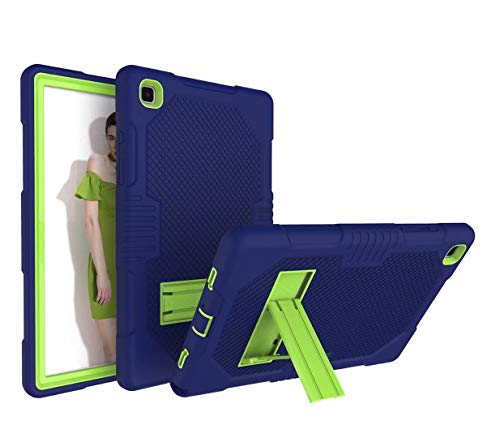 FanTing for iPad Air (2020) 10.9' case,With bracket,all-inclusive design, three-layer ultra-thin shock-proof and durable Protective Case for iPad Air (2020) 10.9'-Navy Blue+Olivine