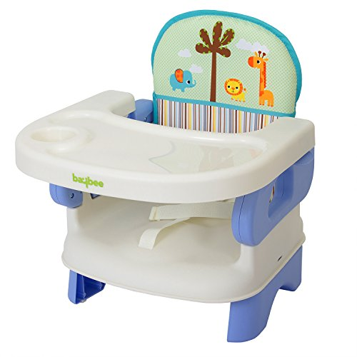 Baybee Deluxe Comfort Folding Booster Seat | Toddlers Booster Seat for Eating with 3-Point Harness Secures Baby Tightly While You Feed -Dishwasher Safe Tray, Built-in Cup Holder