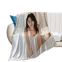 深田恭子 毛布 シングル 人気 フランネル エアコン ブランケット 軽い 暖かい 柔らかい 肌触りにやさしい くしゅくしゅ 綿毛布 コットン ブランケット ふわふわ あったか 洗える 130X100cm