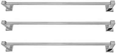 Deeplax Towel Rod High Grade Stainless Steel Square Towel Rod/Towel Stand/Hanger/Bathroom Accessories/Chrome Finish 30 inches
