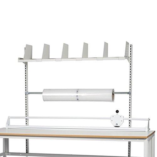 GBP Ergonomics 42-066-0001 uitbreidingen voor lichtgewicht H-frame, opbouw c/c 1775, 2 rails, 1 plank, 6 vakken, 1 snijapparaat, afrollaas voor pakpapier of folie