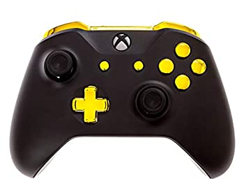Xbox One S Modded Controller Black and Gold Chrome - Xbox 1 - Master Mod Includes Rapid Fire Drop Shot Quick Scope Sniper Breath and More - Works for All Shooting Games