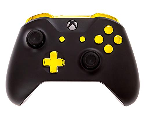 Xbox One S Modded Controller Black and Gold Chrome - Xbox 1 - Master Mod Includes Rapid Fire, Drop Shot, Quick Scope, Sniper Breath, and More - Works for All Shooting Games