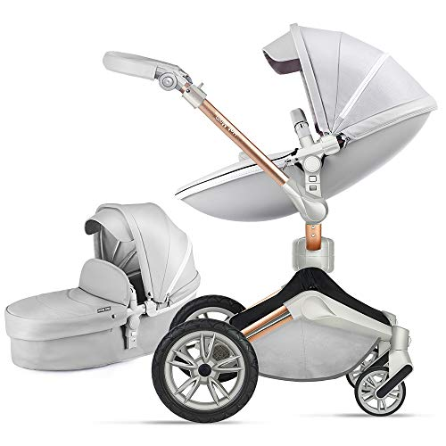Hot Mom Productos unboxing - Cochecito ligero, compacto, 360 rotación, 95% nuevo, 2021 (gris)