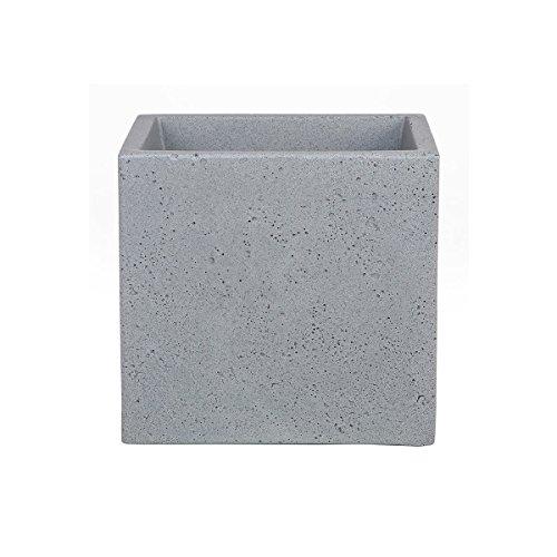 Scheurich C-Cube, Pflanzgefäß aus Kunststoff, Stony Grey, 40 cm lang, 40 cm breit, 33 cm hoch, 44 l Vol.