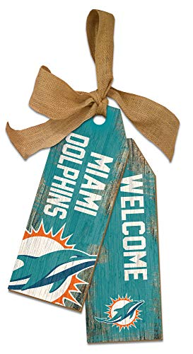 NFL Miami Dolphins Unisex Miami Dolphins Team Tags, Team Color, 12 inch