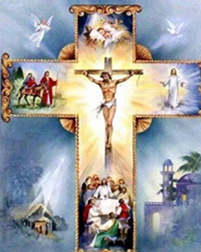 5D diamante pintura cristiana religiosa diamante bordado Virgen María taladro completo diamante de imitación mosaico diamante dibujar regalos religiosos 40 * 50 cm