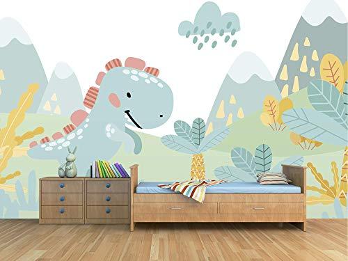 Oedim Papel Pintado Infantil para Pared Dinosaurio | Mural | Papel Pintado |350 x 250 cm | Decoración comedores, Salones, Habitaciones