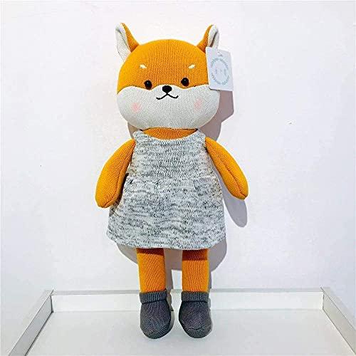 handouxiansheng Peluche 38Cm Muñeca De Lana Rạbbịt Peluches Tejido De Ganchillo Algodón Fox...