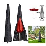 Essort Couverture pour Parasol Imperméable, Housses pour Parasols de Jardin en 210T Polyester, Housse de Protection pour Parasol...