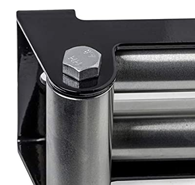 """HiGear 4 Way Winch Roller Fairlead - 10"""" Universal Mount -Cable Guide Heavy Duty Nut Disassembly 10in SUV Truck F150 8000 1000 12000lbs 14000 16000"""